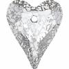 37mm Silver Patina Crystal
